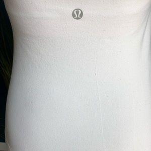 lululemon athletica Tops - Lululemon white Wet Dry Warm Crossback Tank
